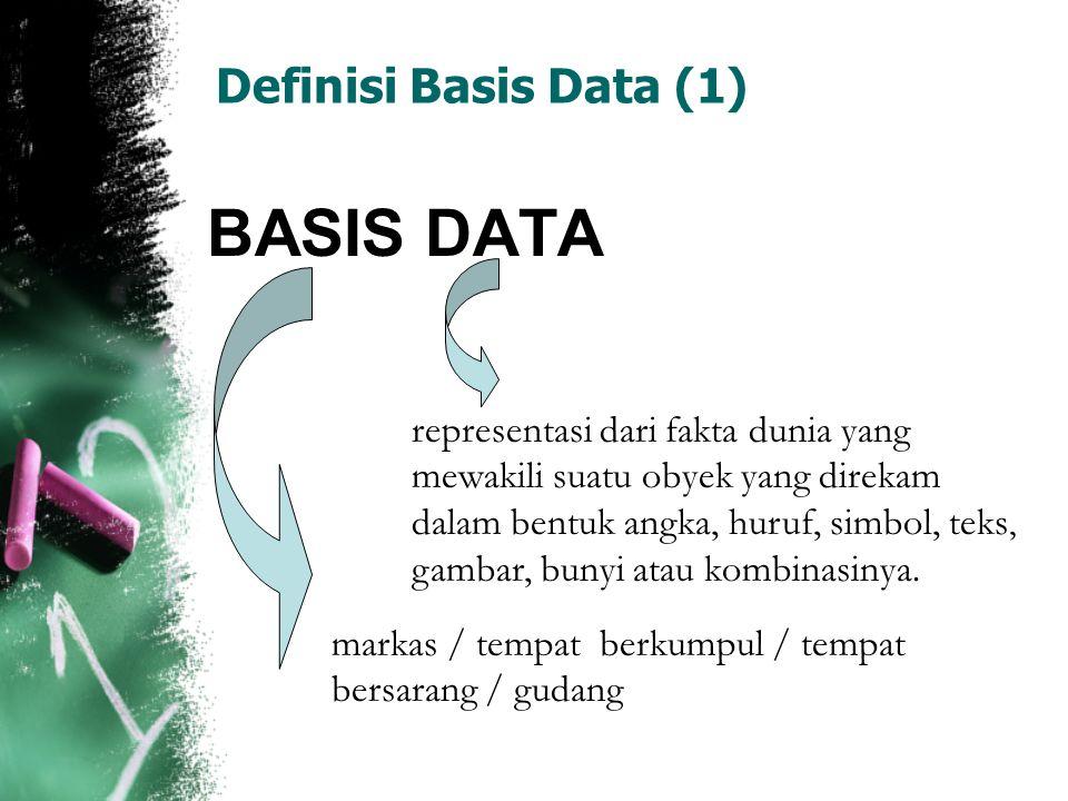 BASIS DATA Definisi Basis Data (1)
