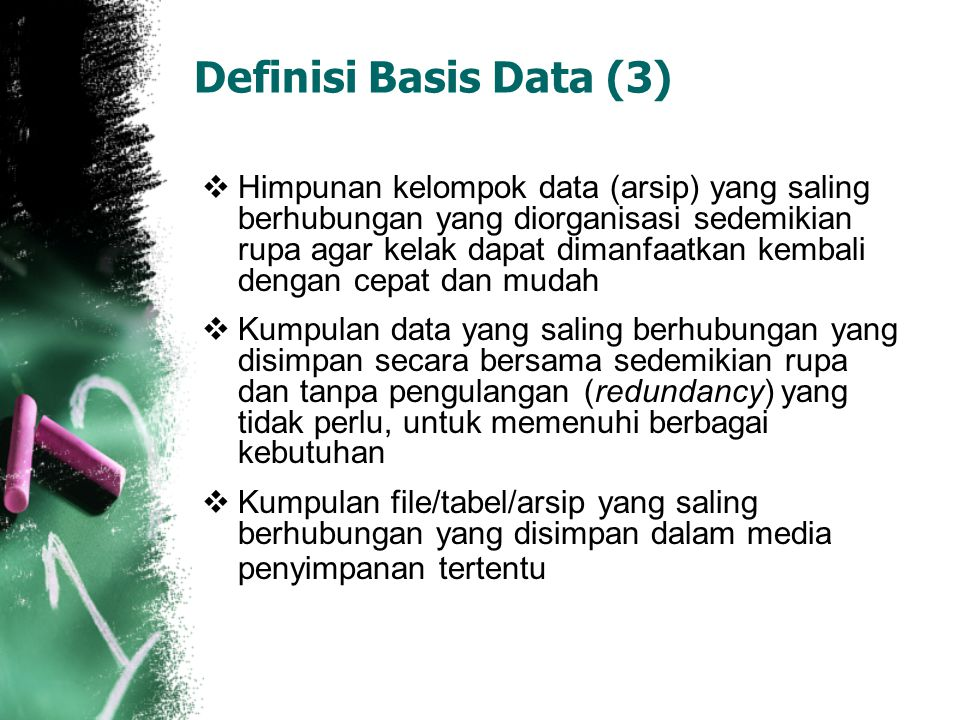 Definisi Basis Data (3)