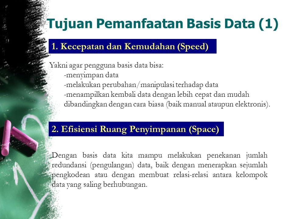 Tujuan Pemanfaatan Basis Data (1)