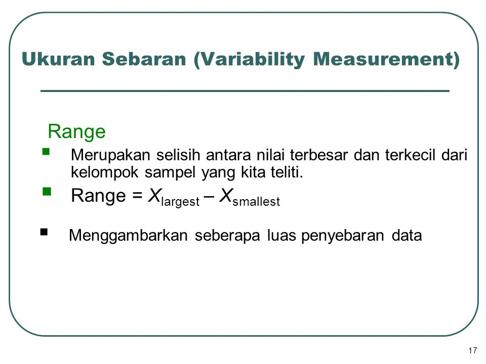 Ukuran Sebaran (Variability Measurement)