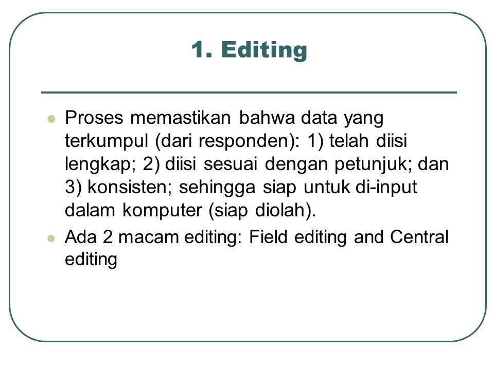 1. Editing