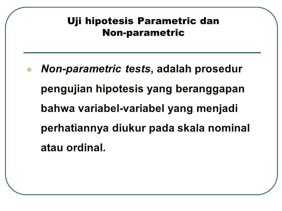 Uji hipotesis Parametric dan Non-parametric