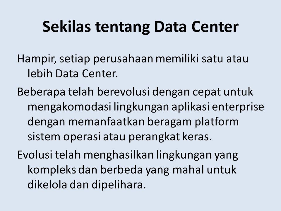 Sekilas tentang Data Center
