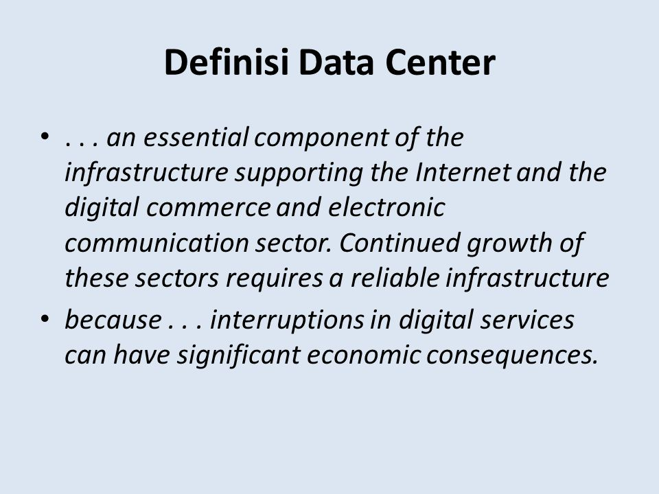 Definisi Data Center