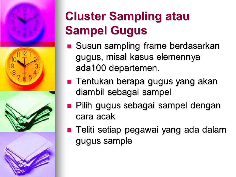 Cluster Sampling atau Sampel Gugus