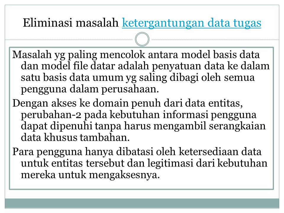 Eliminasi masalah ketergantungan data tugas
