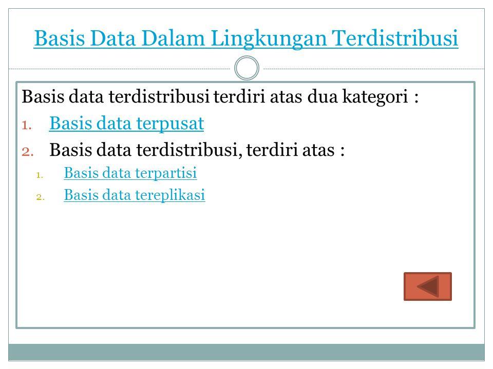 Basis Data Dalam Lingkungan Terdistribusi