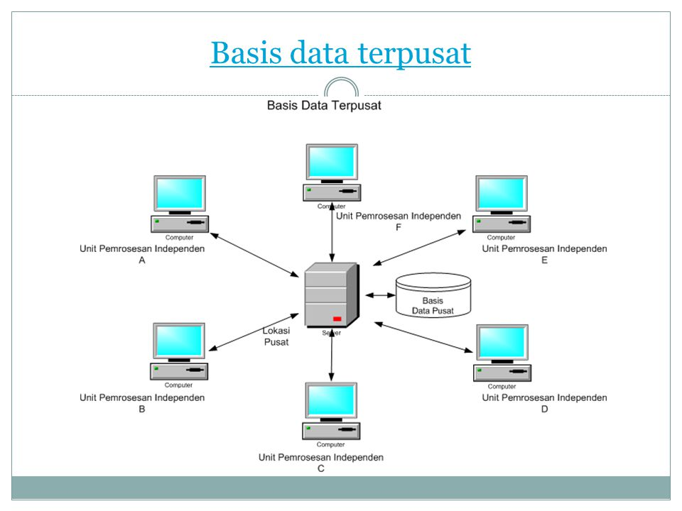 Basis data terpusat