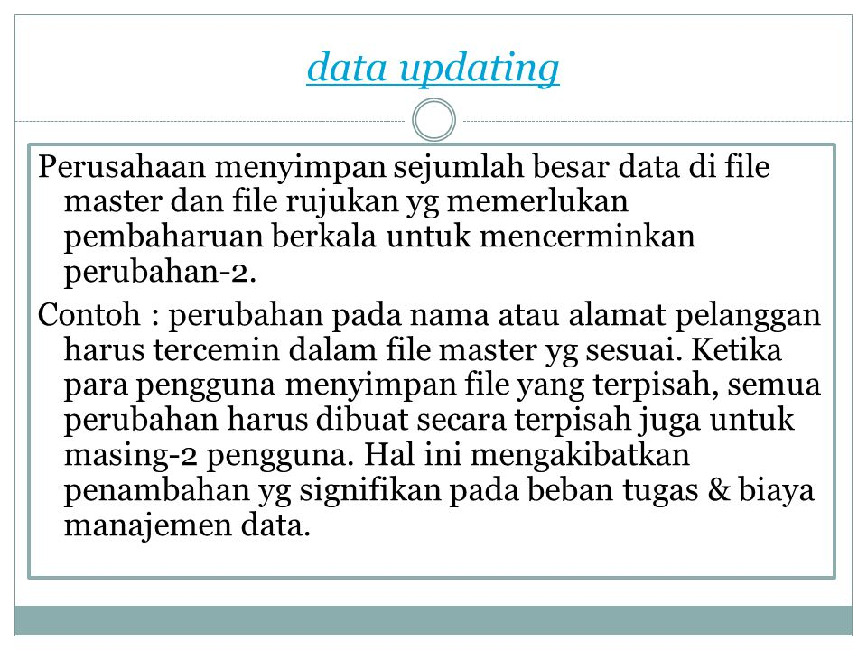 data updating
