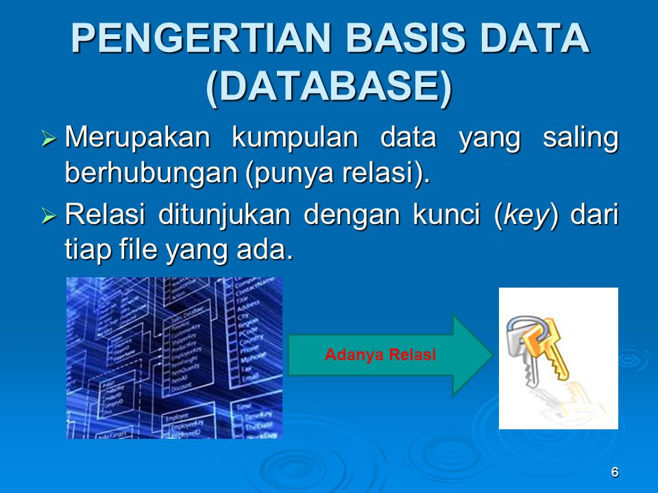 PENGERTIAN BASIS DATA (DATABASE)