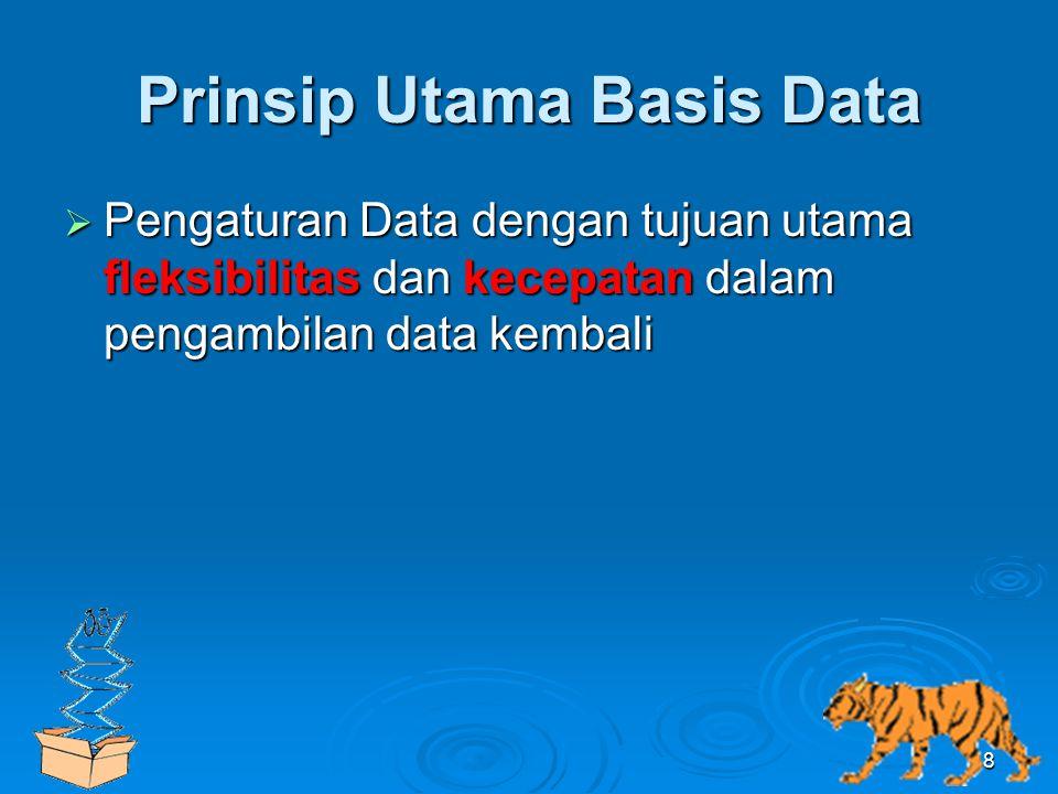 Prinsip Utama Basis Data