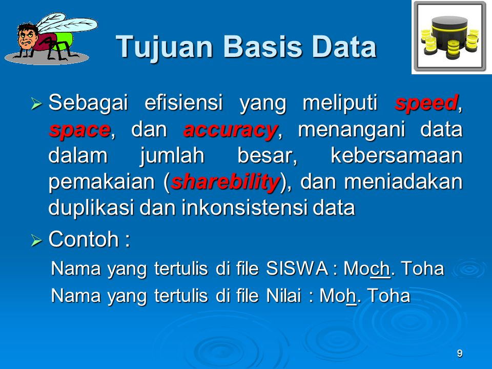 Tujuan Basis Data