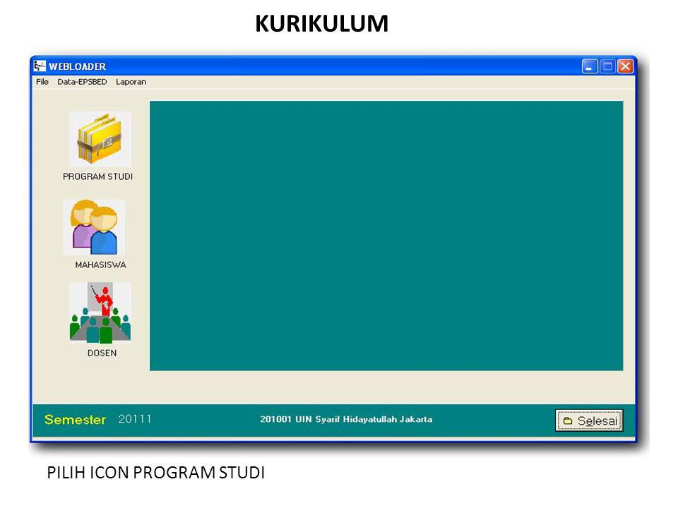 KURIKULUM PILIH ICON PROGRAM STUDI