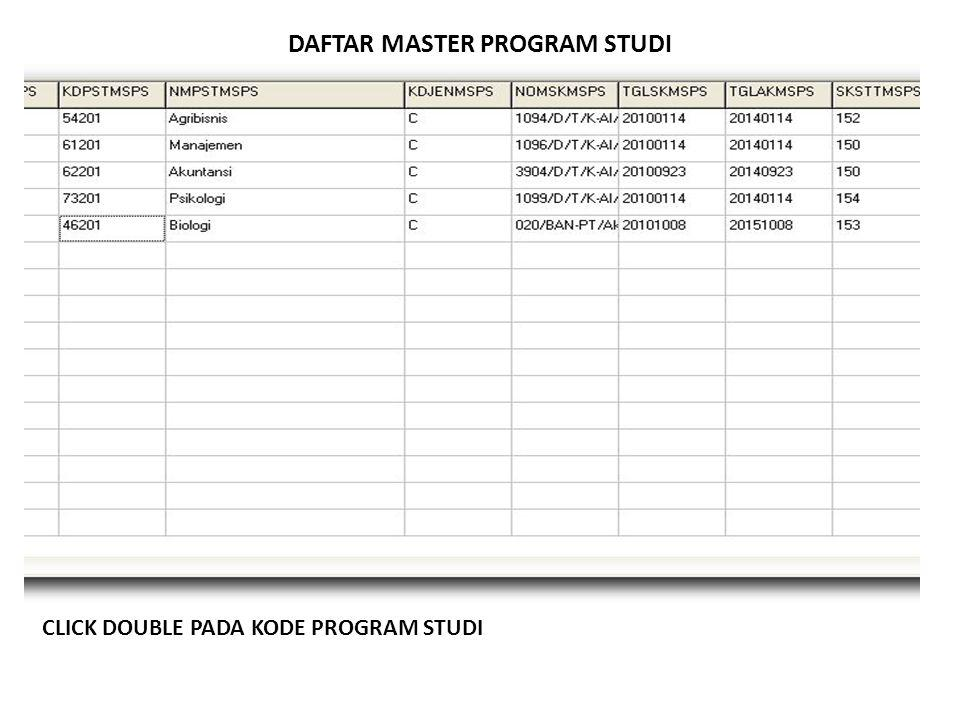DAFTAR MASTER PROGRAM STUDI