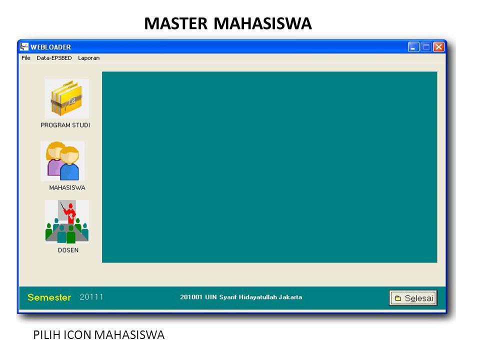 MASTER MAHASISWA PILIH ICON MAHASISWA