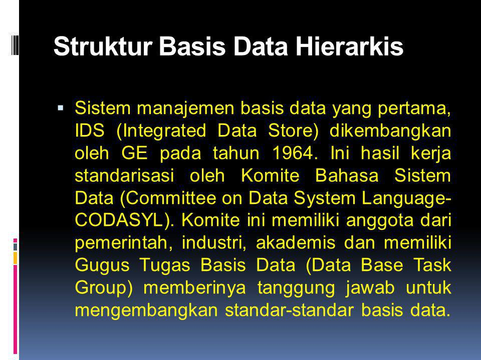 Struktur Basis Data Hierarkis