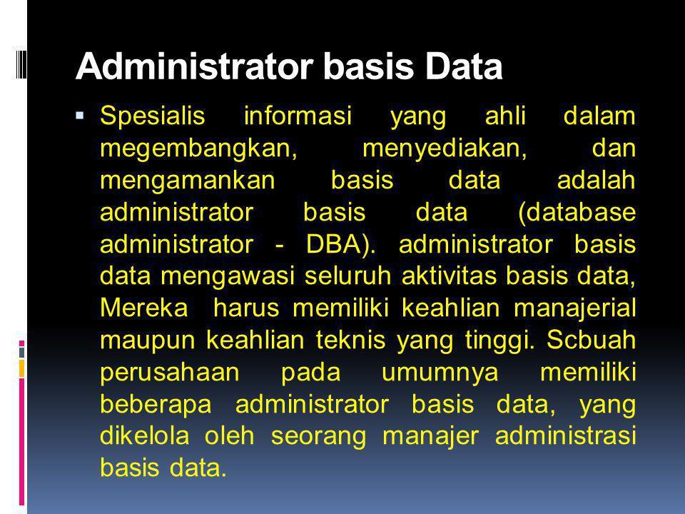 Administrator basis Data