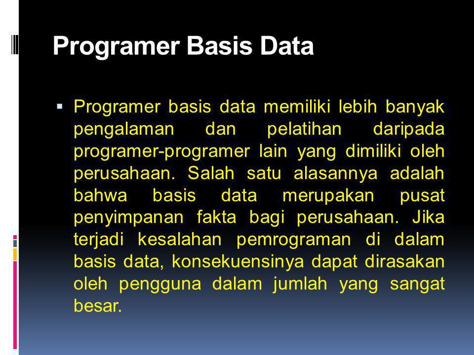 Programer Basis Data