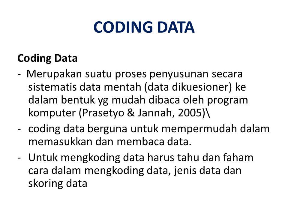 CODING DATA Coding Data