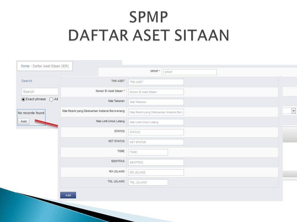 SPMP DAFTAR ASET SITAAN