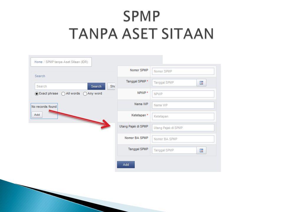 SPMP TANPA ASET SITAAN