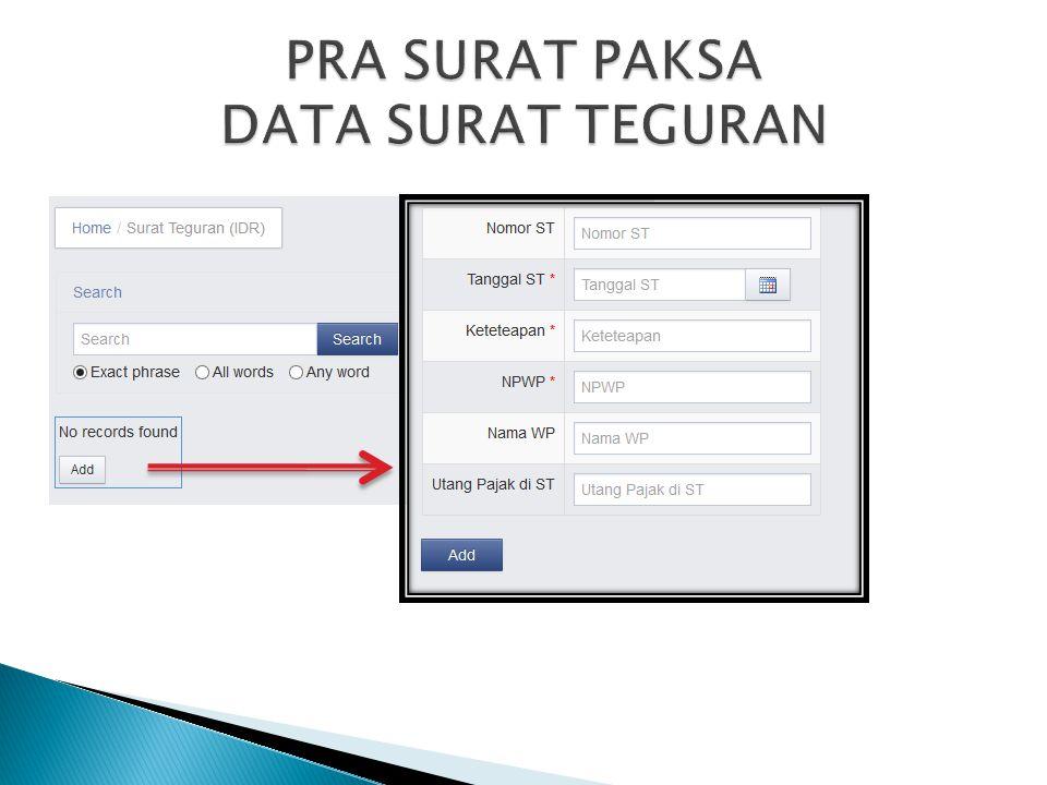 PRA SURAT PAKSA DATA SURAT TEGURAN