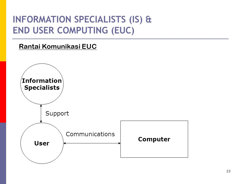 INFORMATION SPECIALISTS (IS) & END USER COMPUTING (EUC)