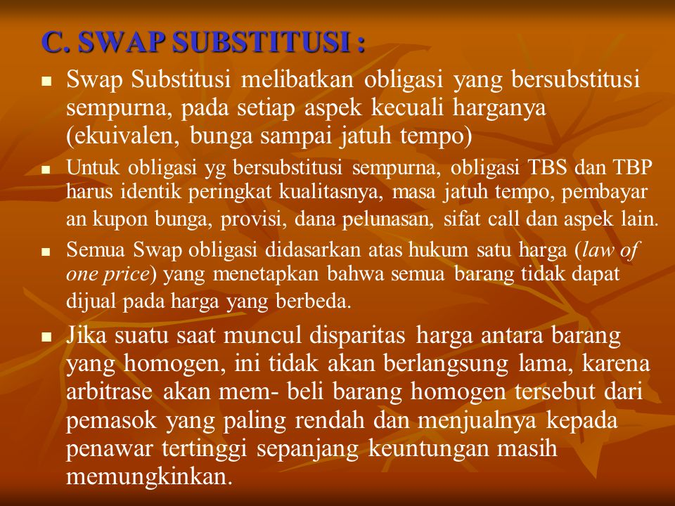 C. SWAP SUBSTITUSI :