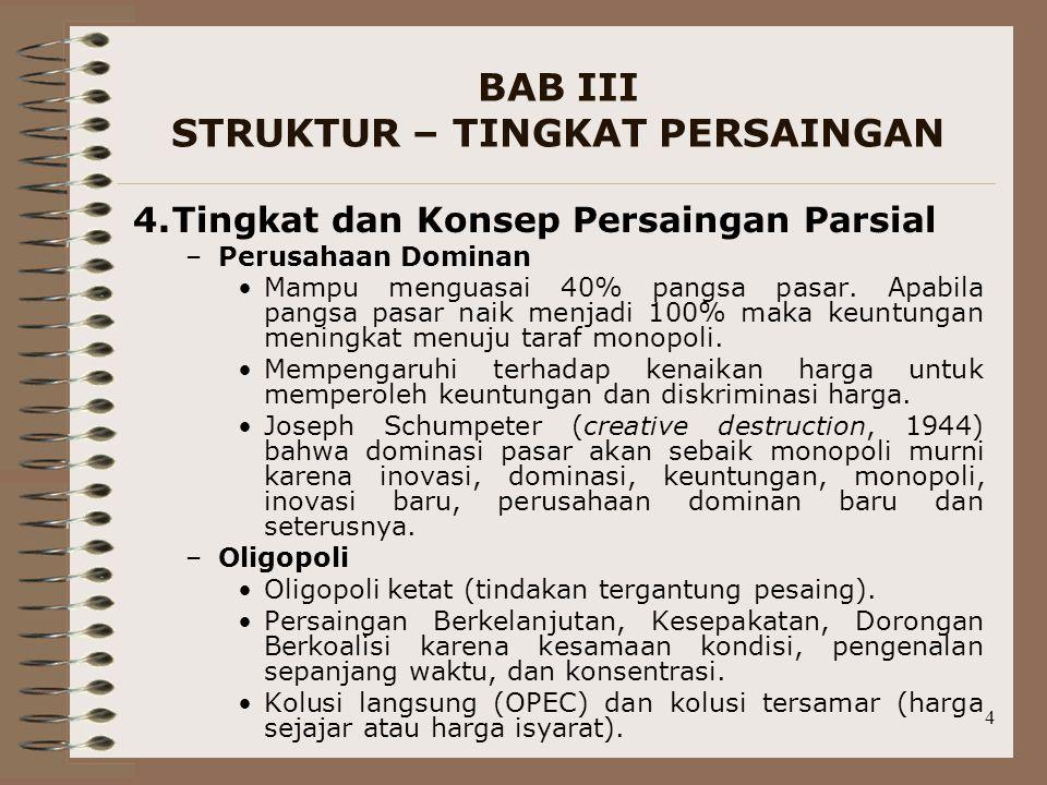 BAB III STRUKTUR – TINGKAT PERSAINGAN