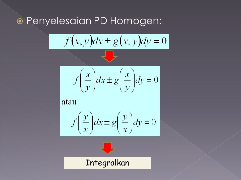 Penyelesaian PD Homogen: