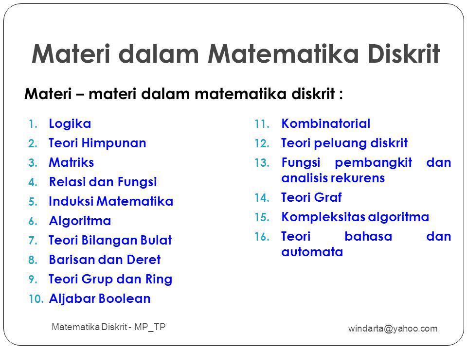 Materi dalam Matematika Diskrit