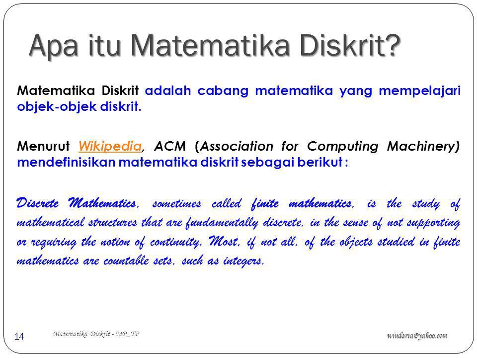 Apa itu Matematika Diskrit