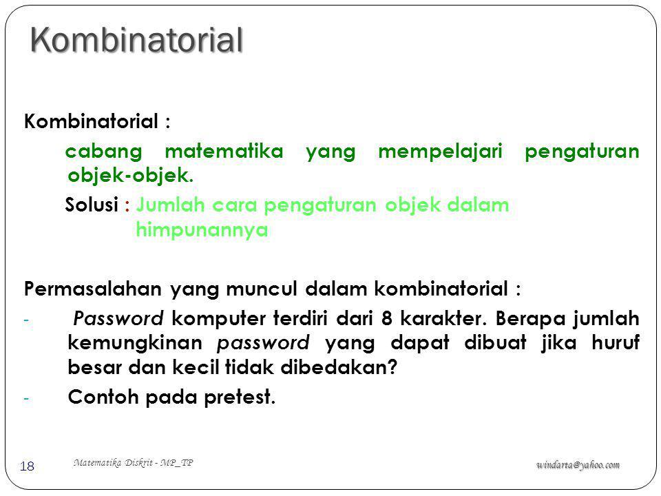 Kombinatorial Kombinatorial :