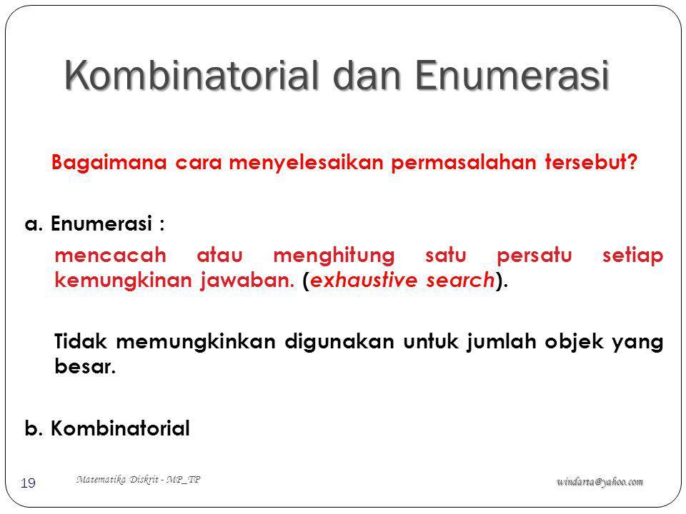 Kombinatorial dan Enumerasi