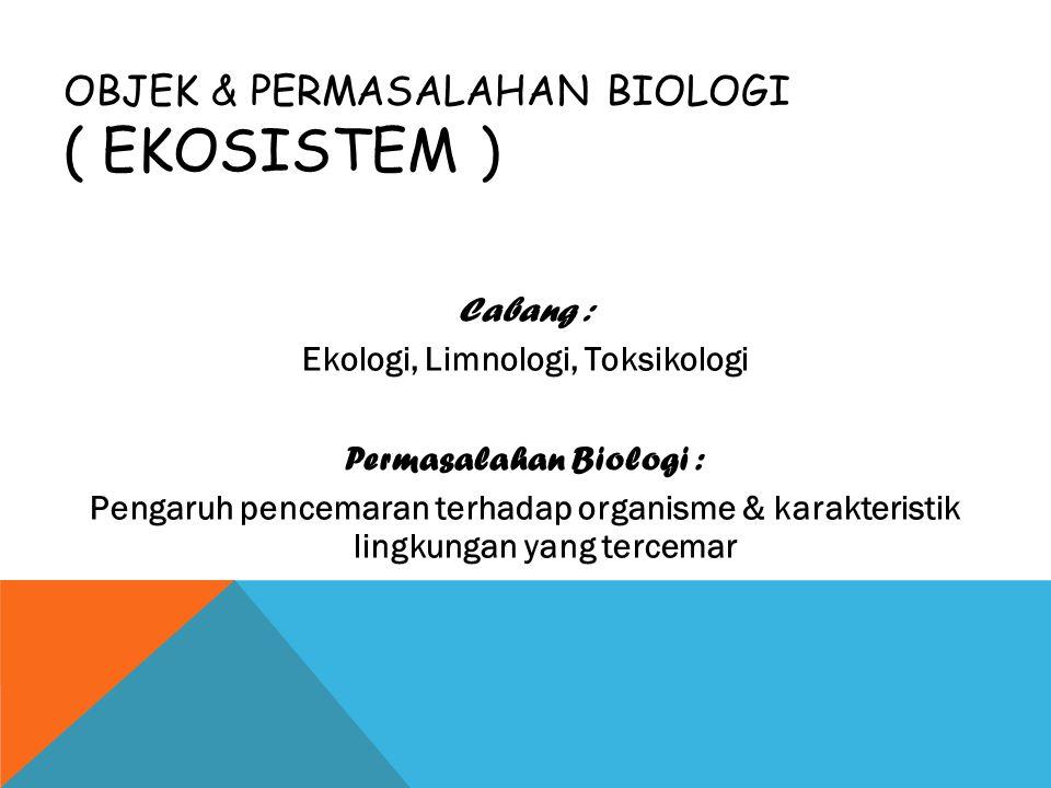 Objek & Permasalahan Biologi ( Ekosistem )