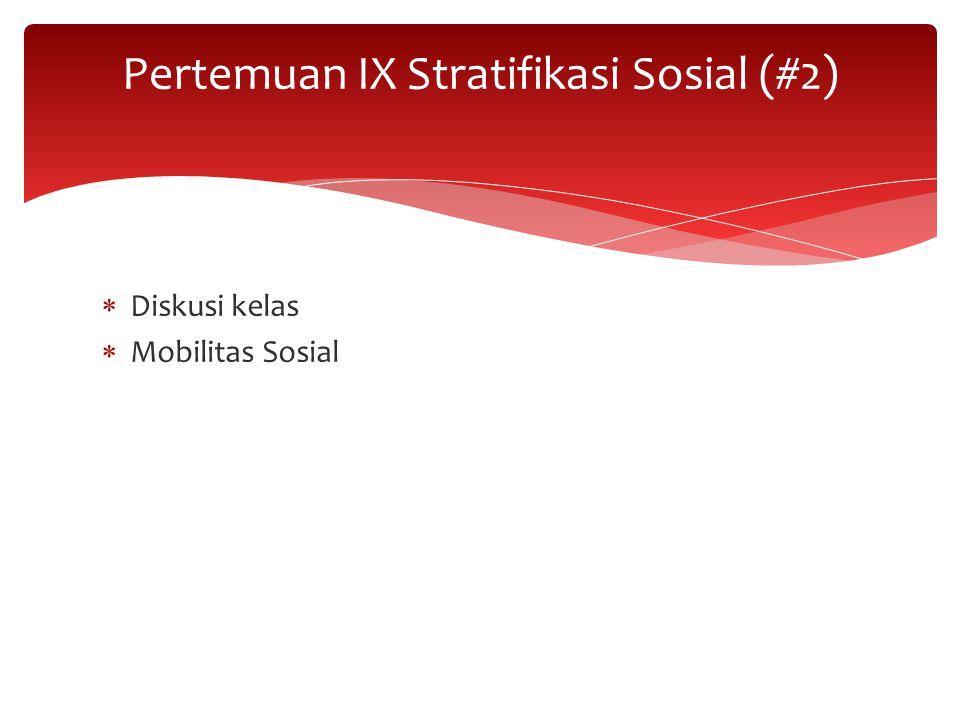 Pertemuan IX Stratifikasi Sosial (#2)