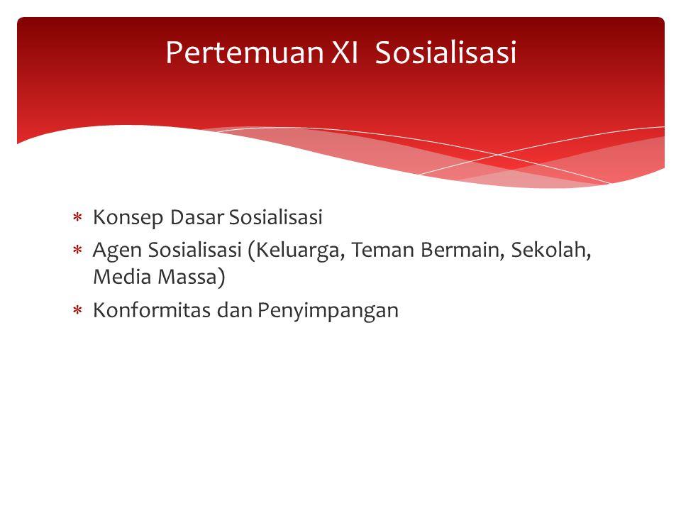 Pertemuan XI Sosialisasi
