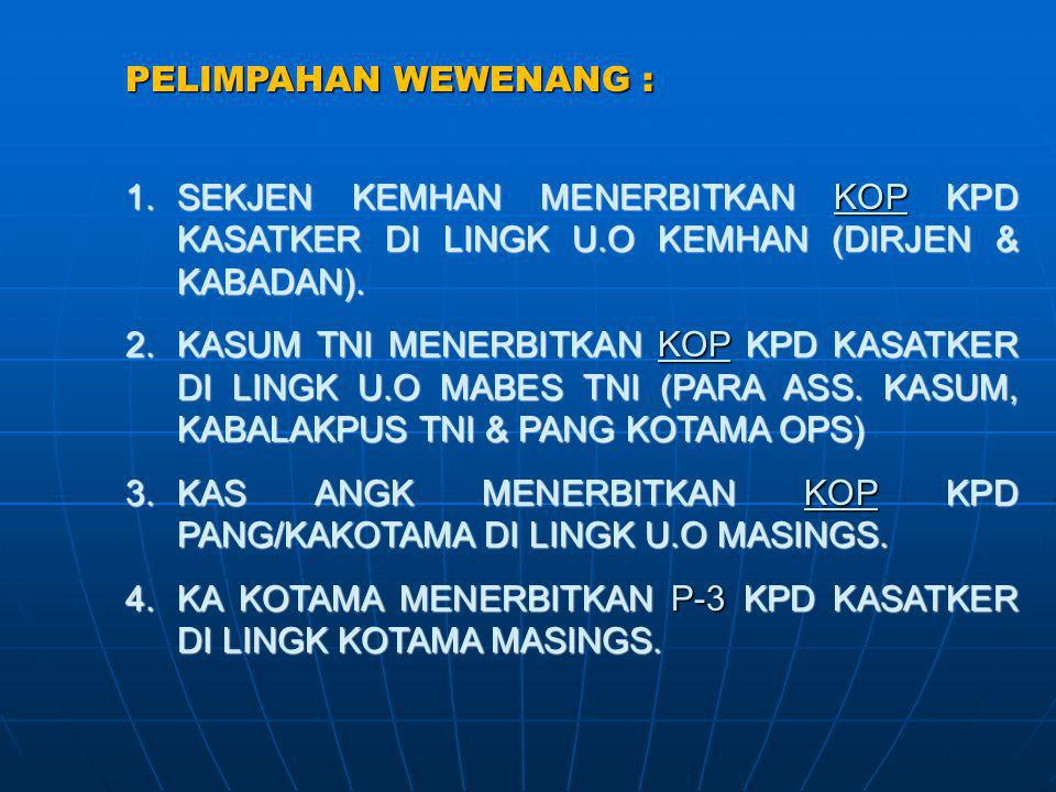 3. KAS ANGK MENERBITKAN KOP KPD PANG/KAKOTAMA DI LINGK U.O MASINGS.