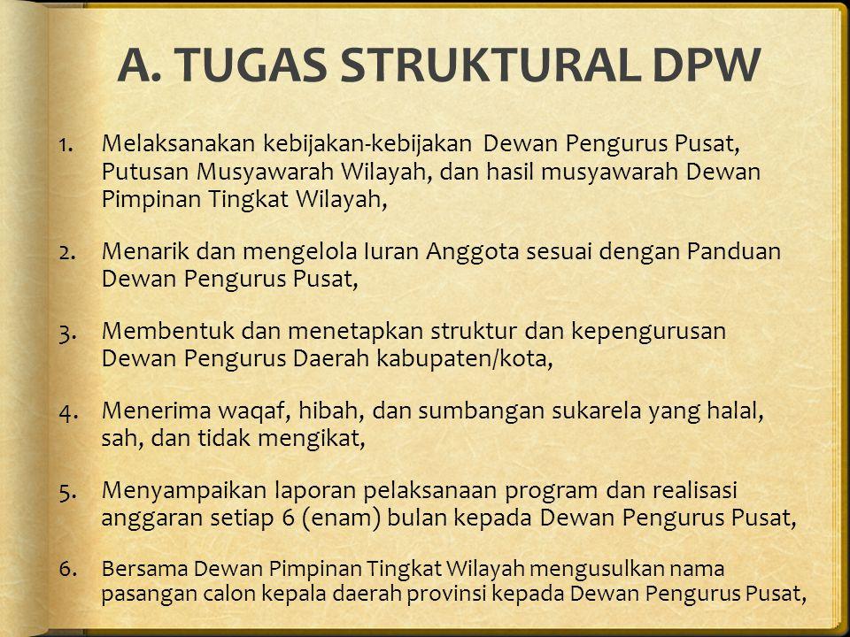 A. TUGAS STRUKTURAL DPW
