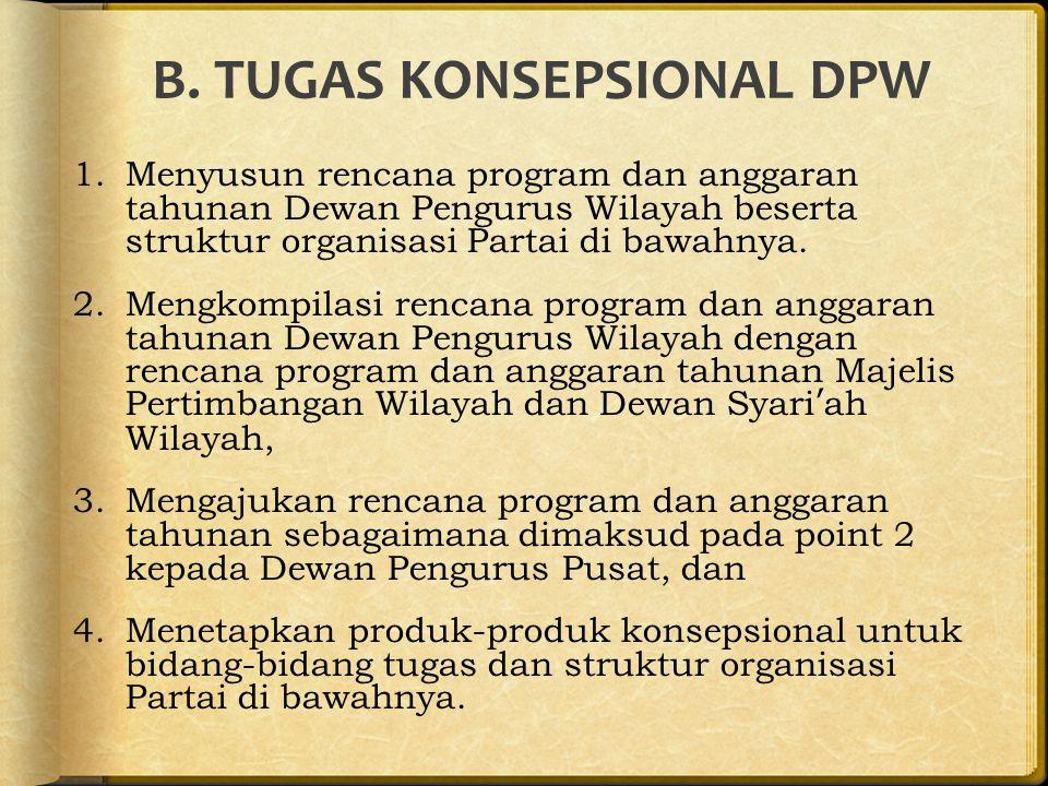 B. TUGAS KONSEPSIONAL DPW