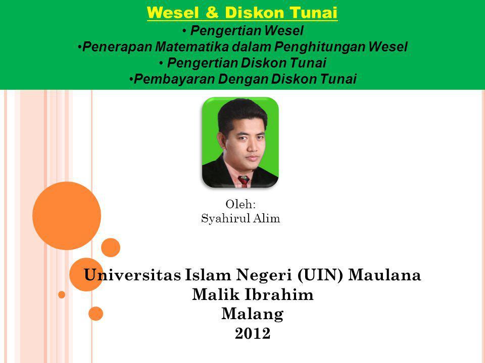 Universitas Islam Negeri (UIN) Maulana Malik Ibrahim Malang 2012