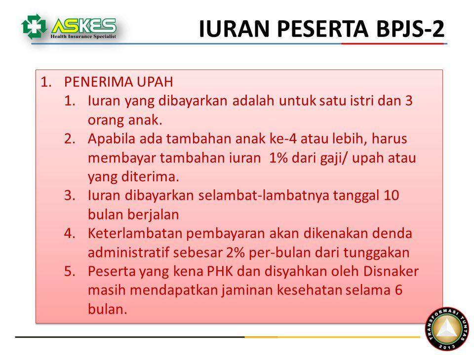 IURAN PESERTA BPJS-2 PENERIMA UPAH