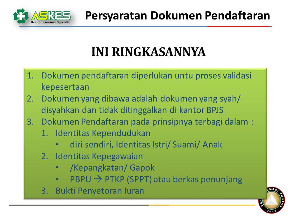 Persyaratan Dokumen Pendaftaran