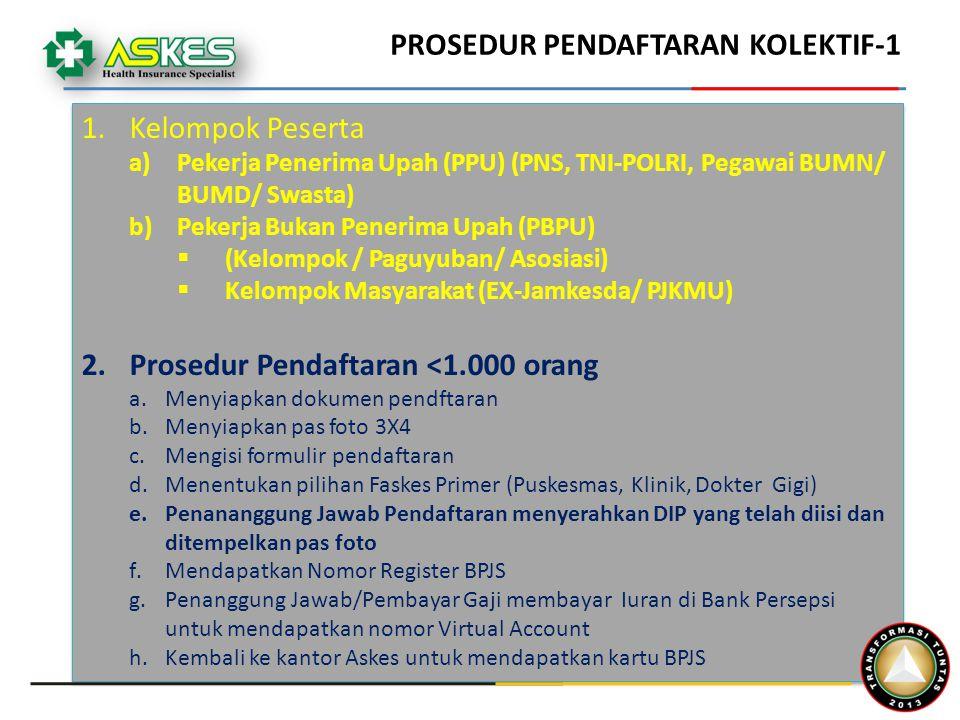 PROSEDUR PENDAFTARAN KOLEKTIF-1
