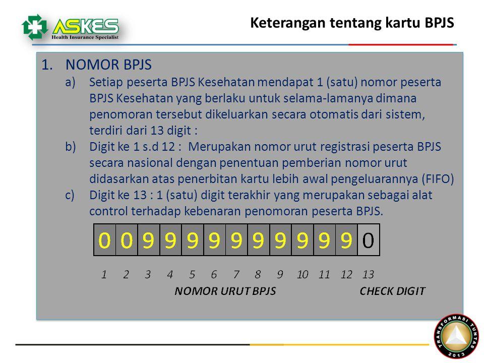 Keterangan tentang kartu BPJS