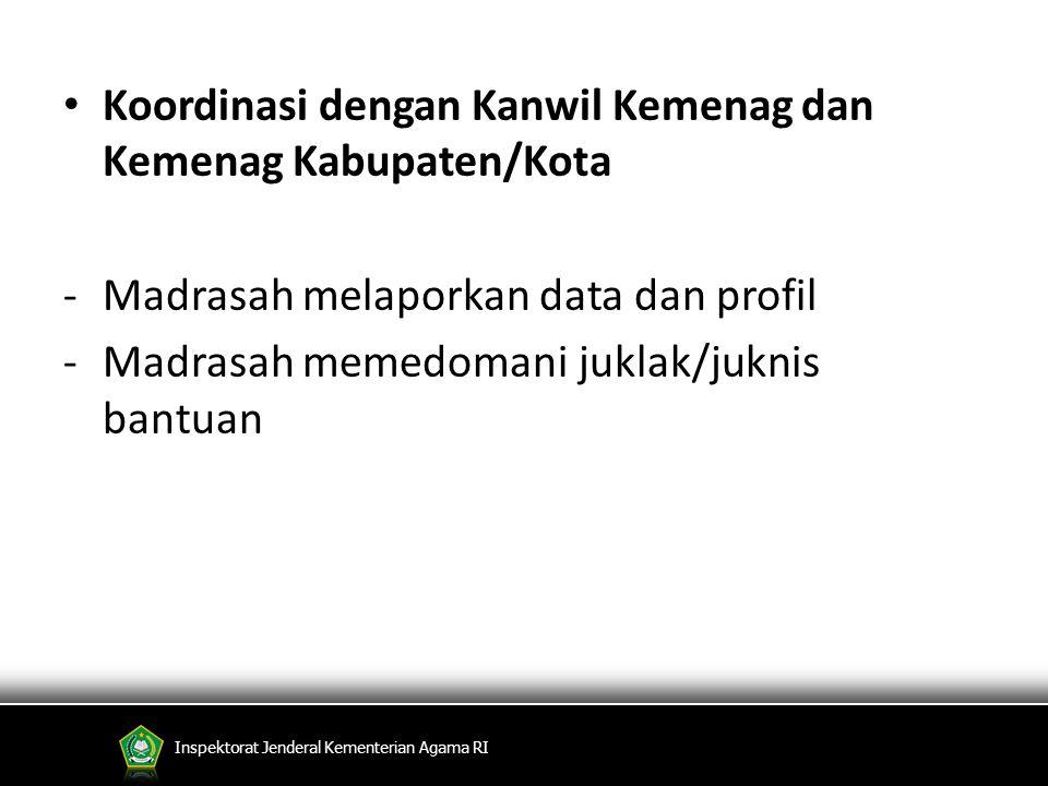 Koordinasi dengan Kanwil Kemenag dan Kemenag Kabupaten/Kota