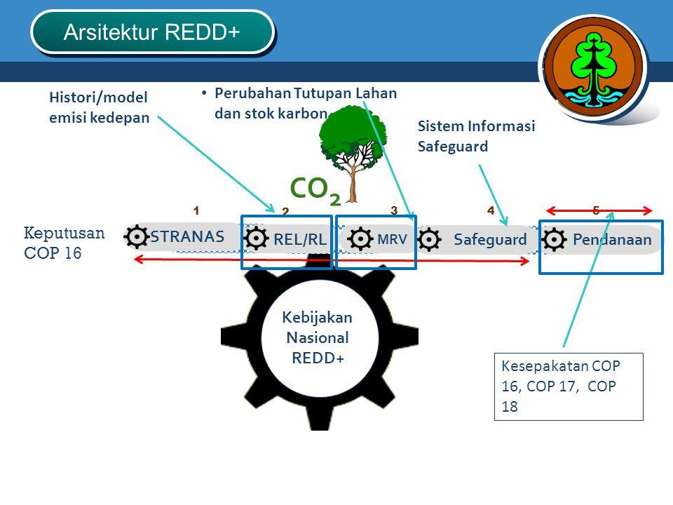 CO2 Arsitektur REDD+ Perubahan Tutupan Lahan dan stok karbon