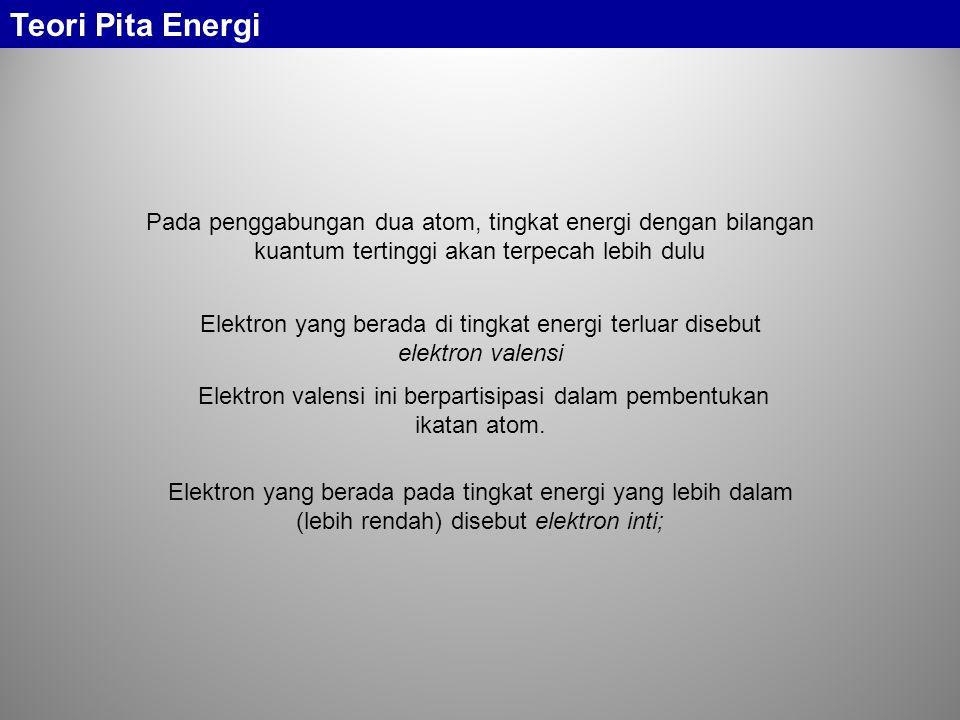 Elektron valensi ini berpartisipasi dalam pembentukan ikatan atom.