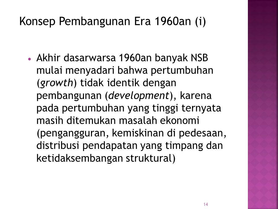 Konsep Pembangunan Era 1960an (i)