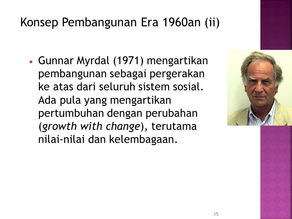 Konsep Pembangunan Era 1960an (ii)